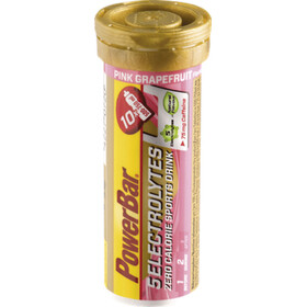 PowerBar 5 Electrolytes Sports Nutrition Pink Grapefruit with Caffeine: 10 tabs pink/gold
